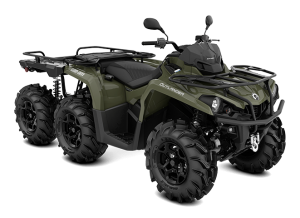 Can-Am Outlander 6X6 XU+ T - Flat Bed 450 2021 Squadron Green T3B - 60km/h